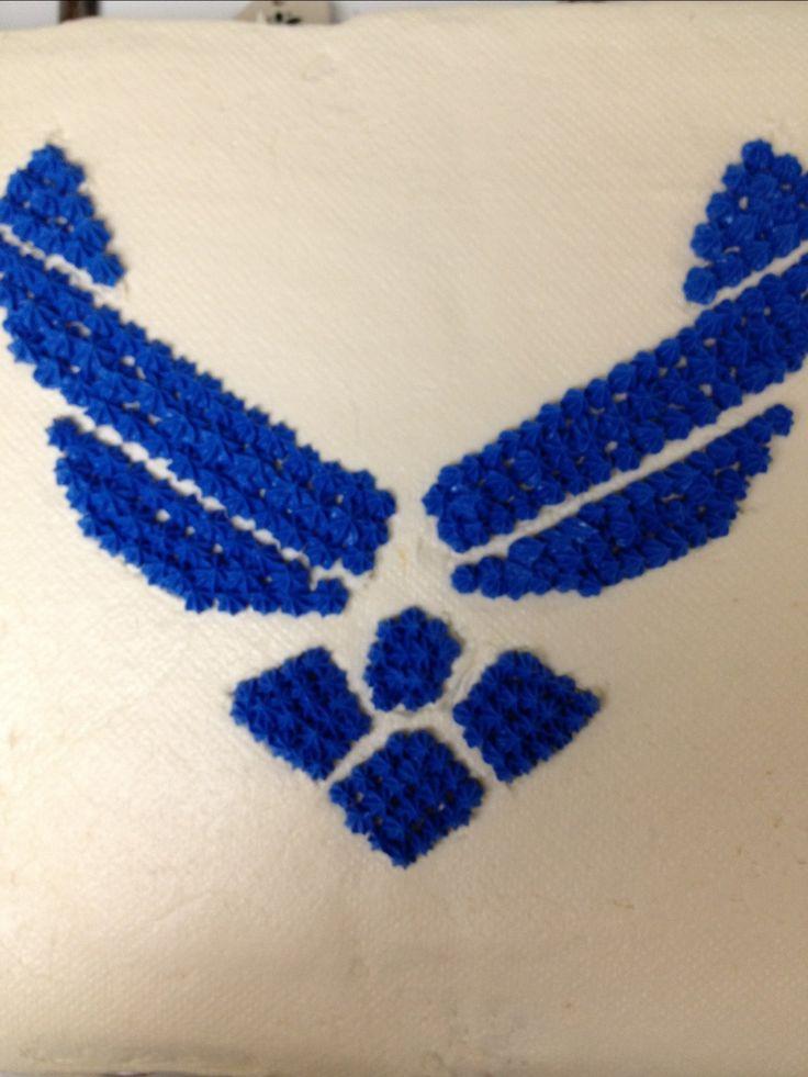 Air Force Promotion Cake Design - Super Easy!