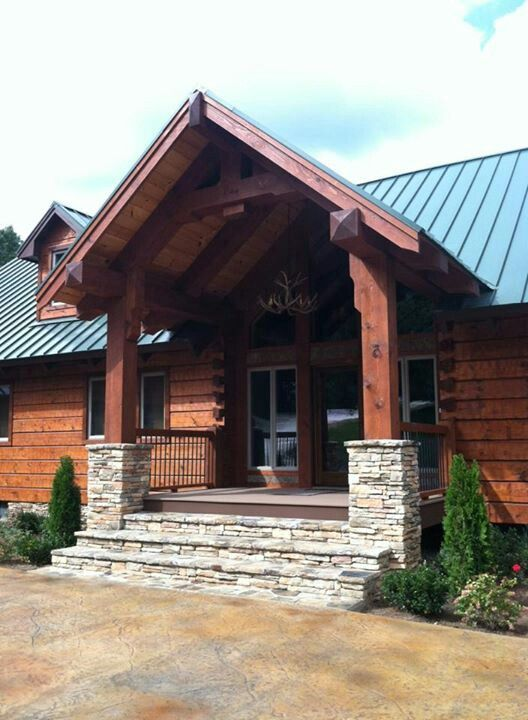 1000 images about arch heavy timber on pinterest for Timber frame porch addition