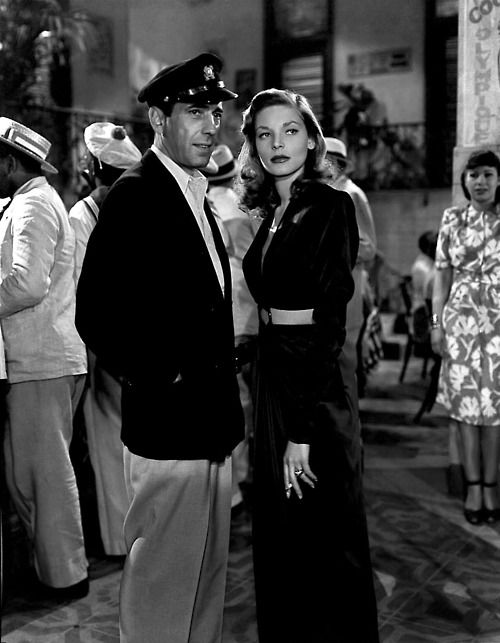 Lauren Bacall & Humphrey Bogart in To Have and Have Not(1944).