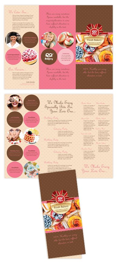 Bakery Tri Fold Brochure Template