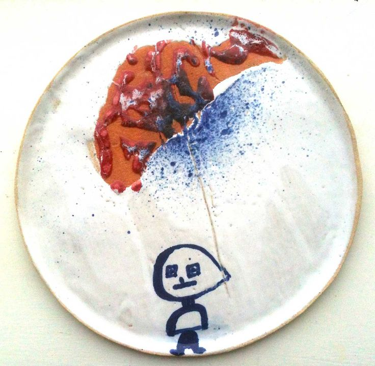Ceramic Plate by Mette