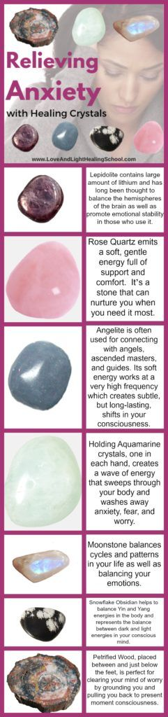 Relieving Anxiety with Healing Crystals