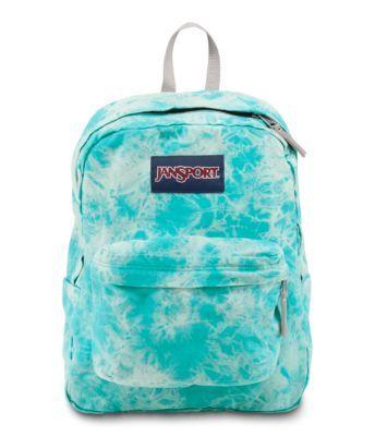 "JanSport ""High Stakes"" backpack in ""Blue Wash Lightening Wash"""