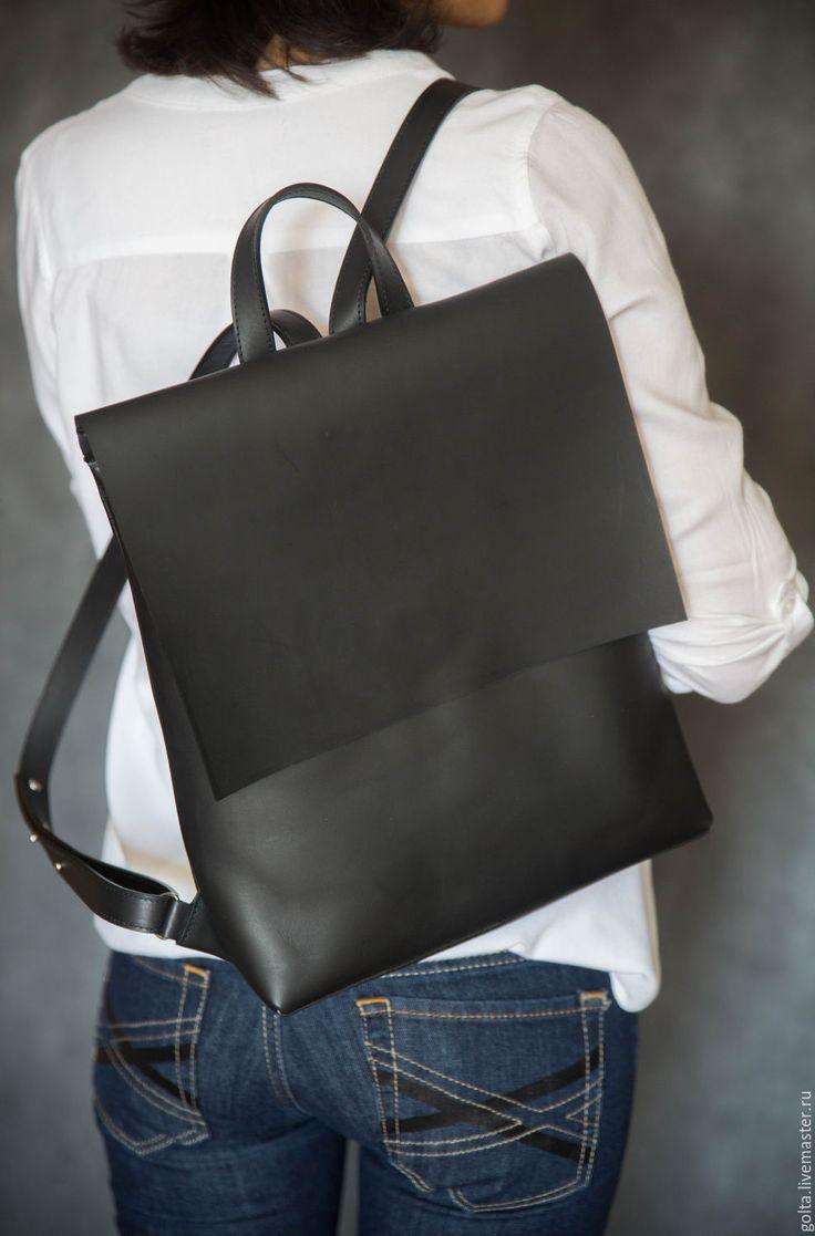 a0bc1873e8c7 Купить Рюкзак черный - черный, рюкзак, женский рюкзак, городской рюкзак, кожаный  рюкзак | hh + in 2019 | Leather Backpack, Leather handbags, Leather Bag