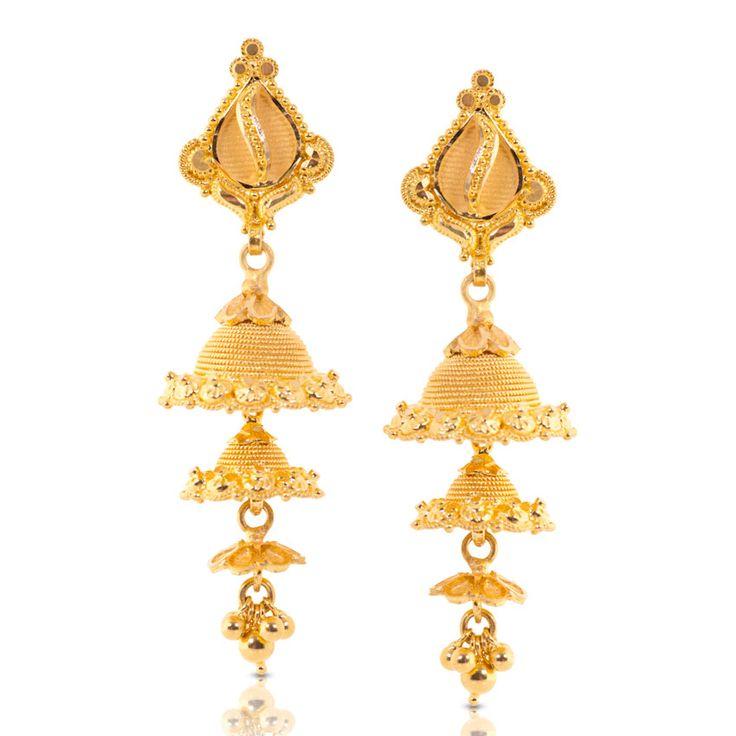 18 best Gold Jhumka Designs images on Pinterest   Jhumka designs ...