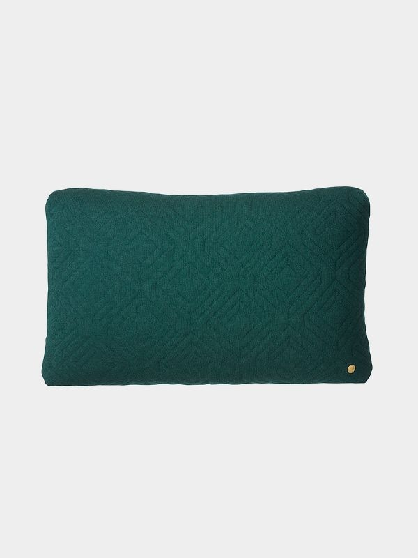 Quilt Cushion - Dark Green - 60 x 40