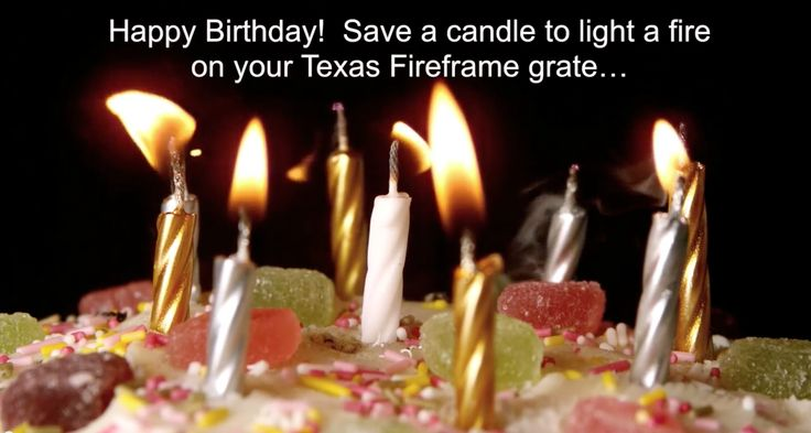 A Texas Fireframe grate makes the perfect gift. Don't forget to email the recipient this video birthday card that shows the fire and how to build it: https://www.youtube.com/watch?v=1ew0Wa57KFM