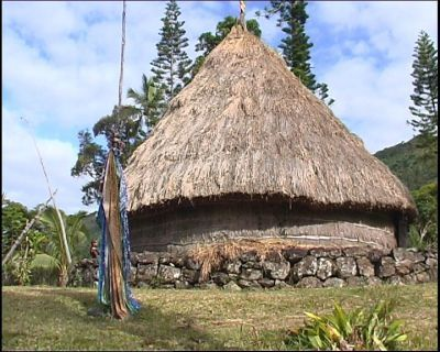 "Traditional Kanak house, Lifou island, Loyalty islands, New Caledonia. Kanaks are the indigenous people of New Caledonia. In Hawaiian ""Kanaka"" means human being."