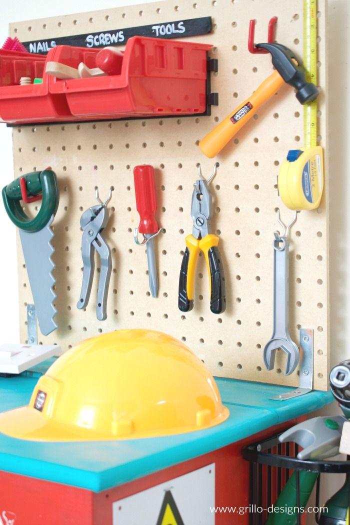 DIY Kids Tool Bench • Grillo Designs