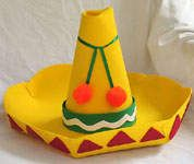 For Cinco de Mayo, make a craft foam sombrero that your kids can wear!