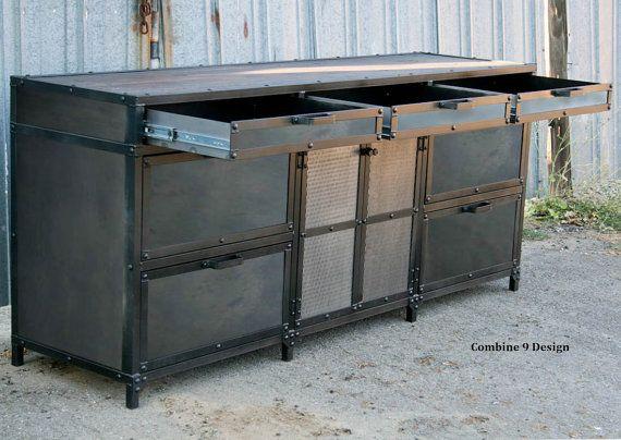 Industrial File Cabinet. Vintage industrial style by leecowen
