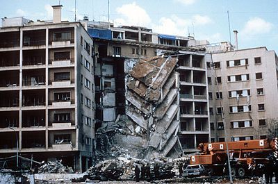 October 23 – Simultaneous suicide truck-bombings destroy both the French and the United States Marine Corps barracks in Beirut, killing 241 U.S. servicemen, 58 French paratroopers and 6 Lebanese civilians.