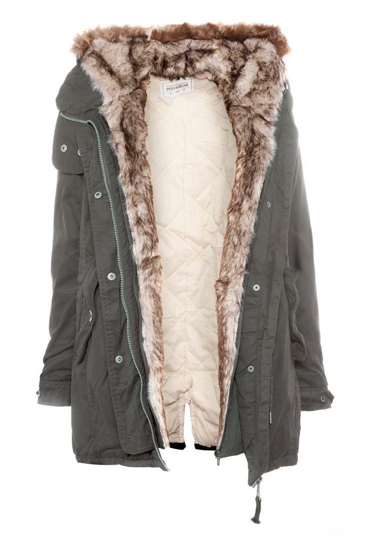 abrigo con interior piel :)