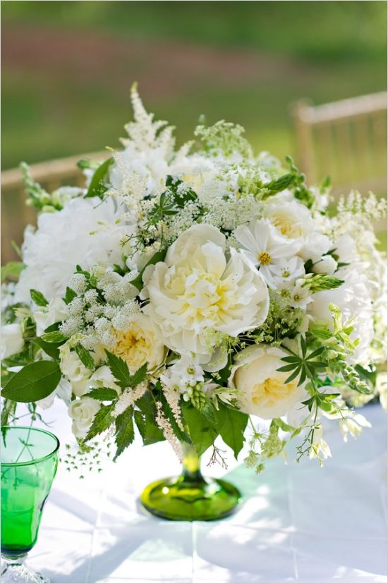 Ideas about green centerpieces on pinterest