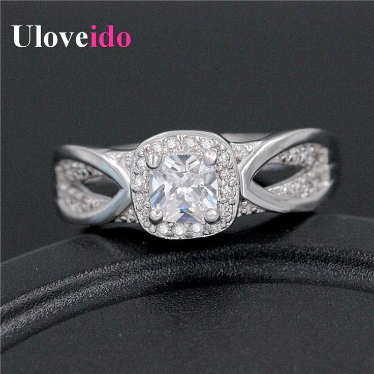 Find More Rings Information about New Arrival Platinum Plated Wedding Ring for Women 2016 Party Jewelry Zircon Size 6 7 8 9 CZ Diamond Rings Uloveido WX009,High Quality rings for women 2016,China cz diamond ring Suppliers, Cheap wedding rings for women from Ulovestore Fashion Jewelry on Aliexpress.com