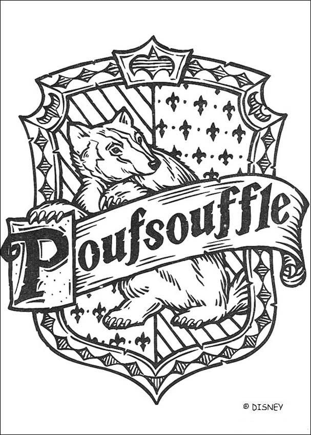 coloriage harry potter le blason de poufsouffle