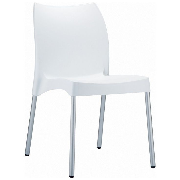 Vita Resin Outdoor Dining Chair   Set Of 2 (White) (31.5H X
