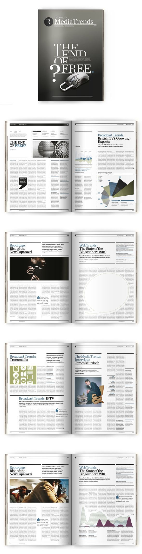 magazine design: MediaTrends by The Design Surgery , via Behance