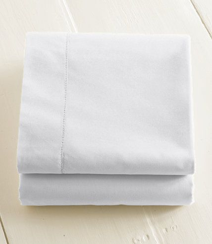 Best Rated 2014 - 280-Thread-Count Pima Cotton Percale Sheet, Fitted: Fitted Sheets | Free Shipping at L.L.Bean