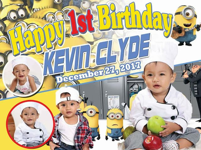 Minions Make Millions Sample Tarpaulin Design For First Birthday
