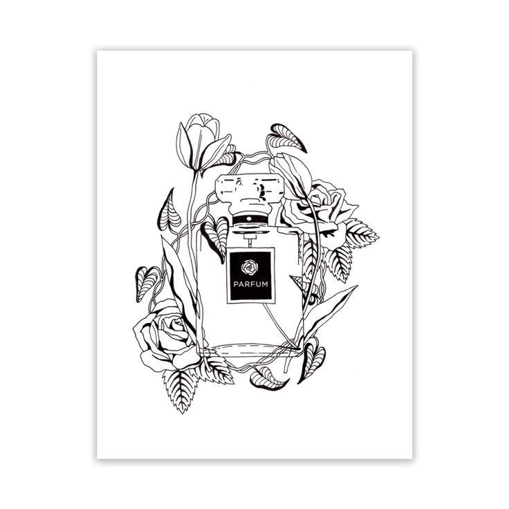 Free Adult Coloring Page Parfum Et Fleurs