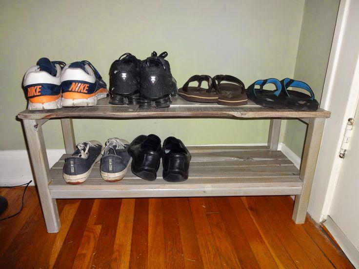 how to build a wood pallet shoe rack pallet diy