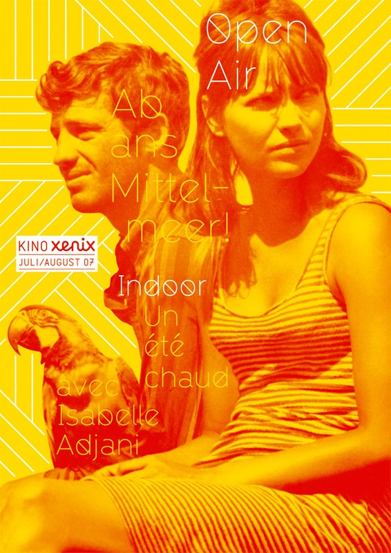 Poster for the Xenix Cinema, July 2007: designed by Alberto Vieceli (Prill Viecelli Cremers)