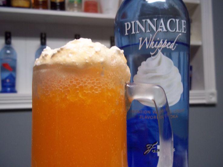 Dreamsicles: Whipped Cream Vodka + Orange Soda (diet or regular)!  THE BEST!