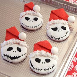 Jack Skellington Christmas cookies