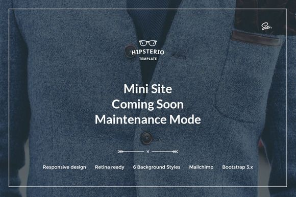 Hipsterio – Mini Site | Coming Soon by ThemeBridge on @creativemarket