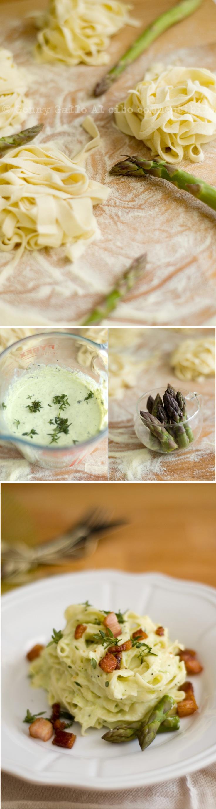 Pasta fresca in crema di asparagi…quello che mi fa stare bene…