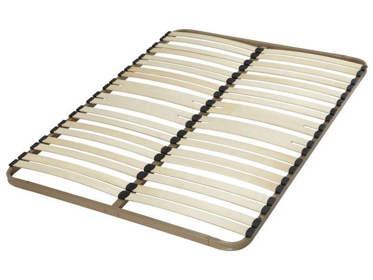 Cadre à lattes fixe 140x190 cm EBAC KIT 18 - Vente de Sommier et cadre à lattes - Conforama