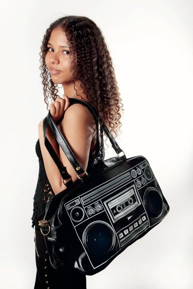 This is so cool! All your friends would envy this bag! This is also whit real speakers!