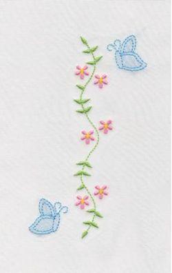 Shadow Work & Embroidery :: Flowers :: Shadow Butterflies & Flowers