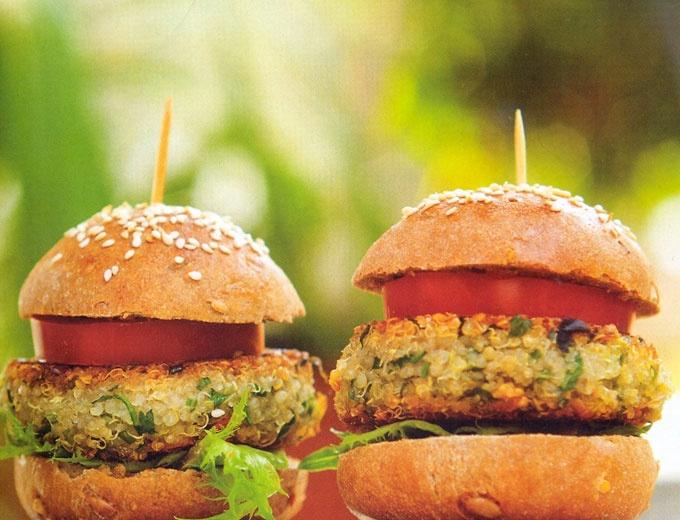 Cantinho Vegetariano: Hambúrguer de Quinua (vegana)