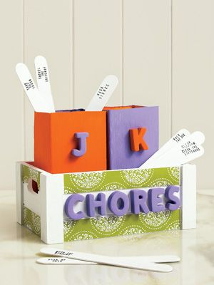 """Chore """"chart"""" craft for kids by Kate Stewart 