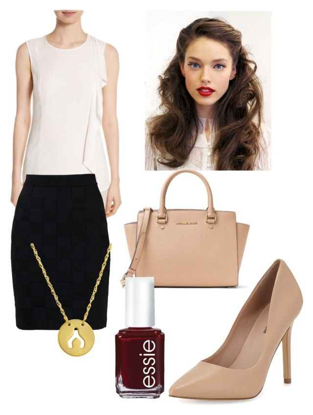 """""""Untitled #26"""" by devih on Polyvore featuring St. John, Neiman Marcus, Balmain, Amanda Rose Collection, Michael Kors and Essie"""