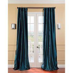 Exclusive Fabrics Taffeta Mediterranean Curtain Panel
