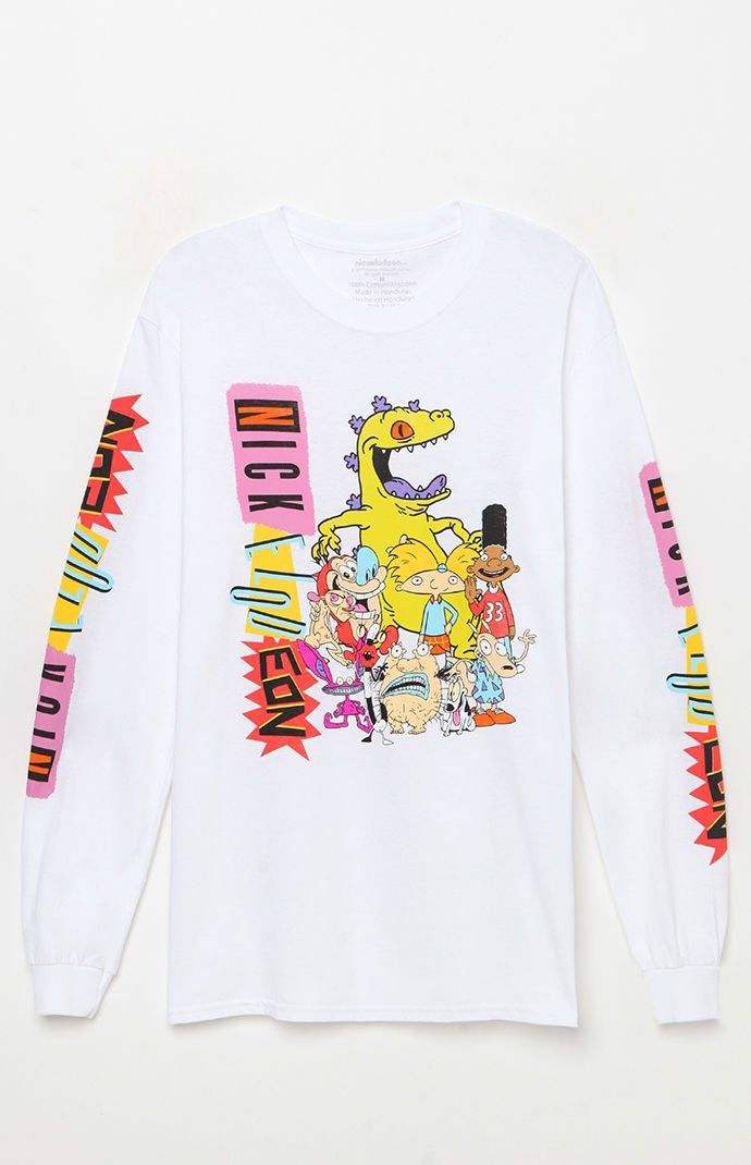4ca199449b9 Nickelodeon All Stars Long Sleeve T-Shirt | Fresh Apparels and Accesories  in 2019 | T shirt, Long sleeve, Pacsun