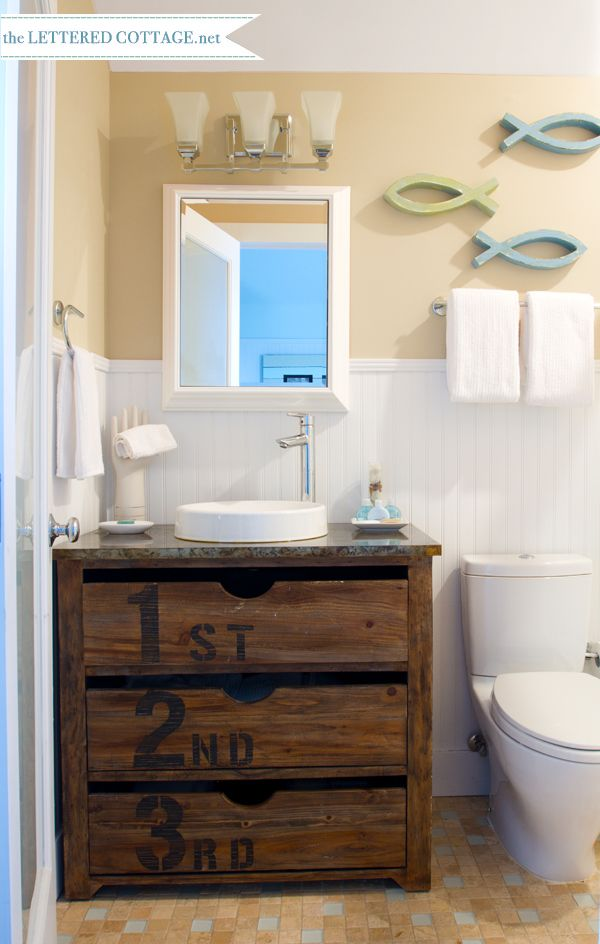 110 best images about lakehouse bathroom on pinterest for Lake cottage bathroom ideas
