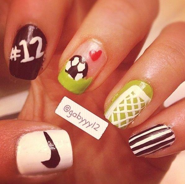 soccer nail design - Google Search