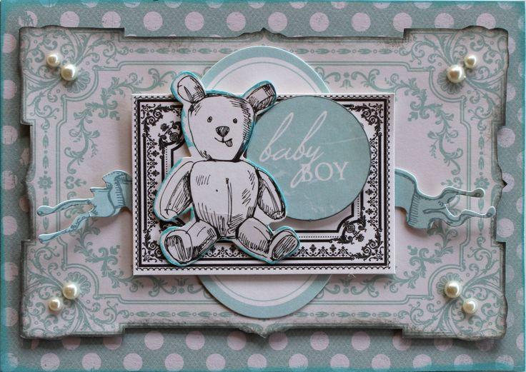 Kaisercraft Pitter Patter - Baby Boy Card