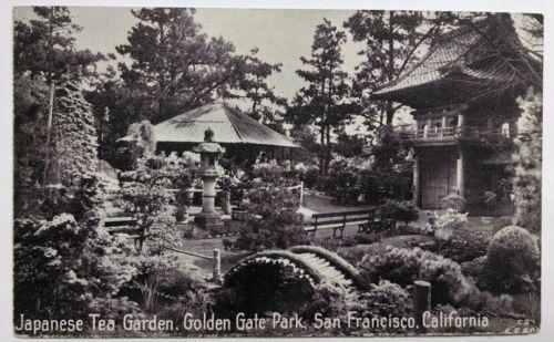 Japanese Tea Garden Golden Gate Park San Francisco CA Vintage Postcard A1