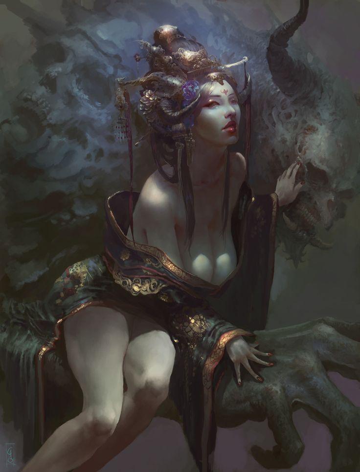 Empress Of the Damned , Christian Angel on ArtStation at https://www.artstation.com/artwork/3bJEE