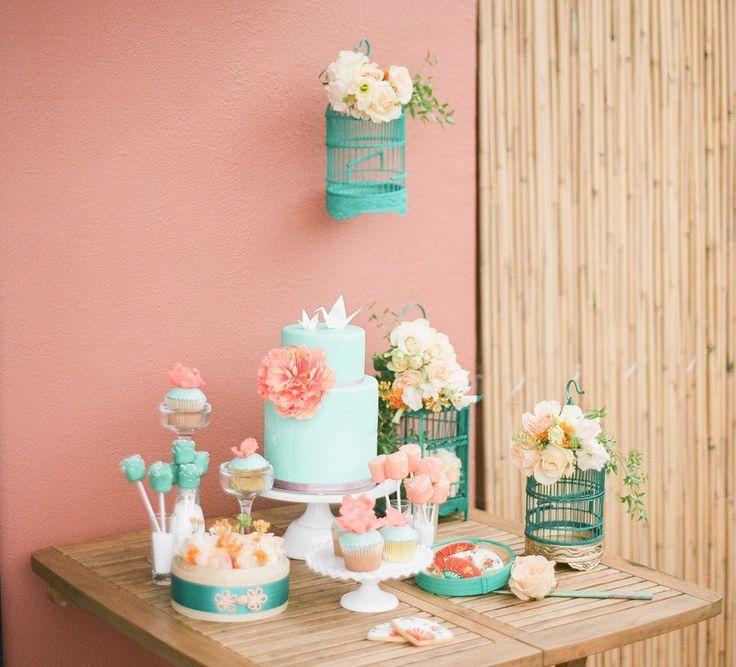 Baby Shower in rosa e verde menta | http://piccolielfi.it/baby-shower-in-rosa-e-verde-menta/