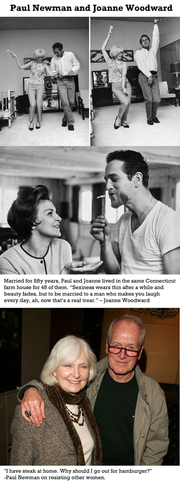 Sexiness wears thin after awhile and beauty fades, but to be married to a man who makes you laugh every day, ah, now that's a real treat. - Joanne Woodward