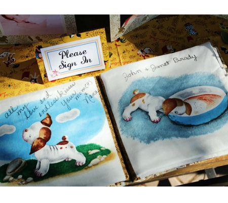 little golden books baby shower guest book