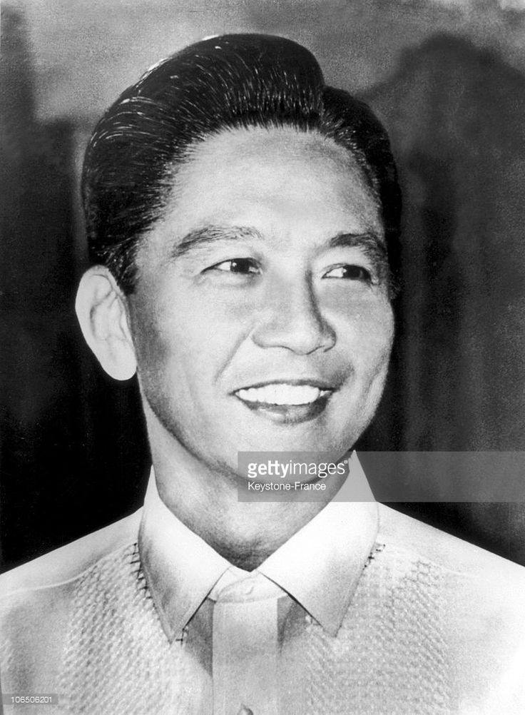President Of The Philippines. Ferdinand Marcos in 1960