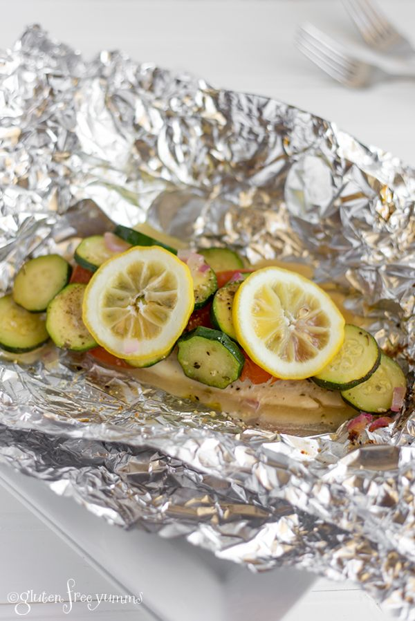 Grilled Tilapia with Veggies in a Foil Packets