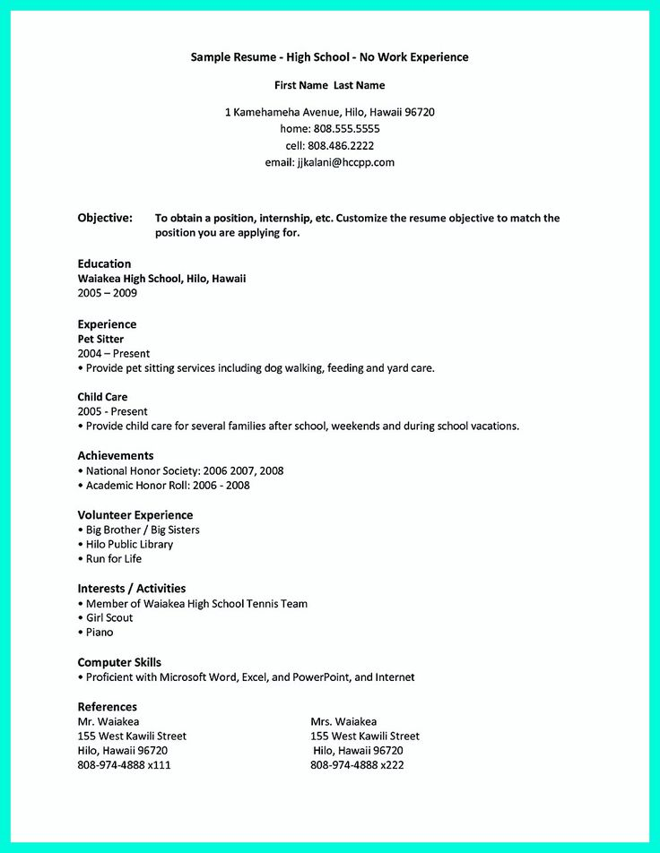 College Resume Is Designed For College Students Either With Or Without Experience To Get A Job Th First Job Resume Job Resume Examples Student Resume Template